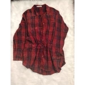 Maurices Plaid Tunic size 1X